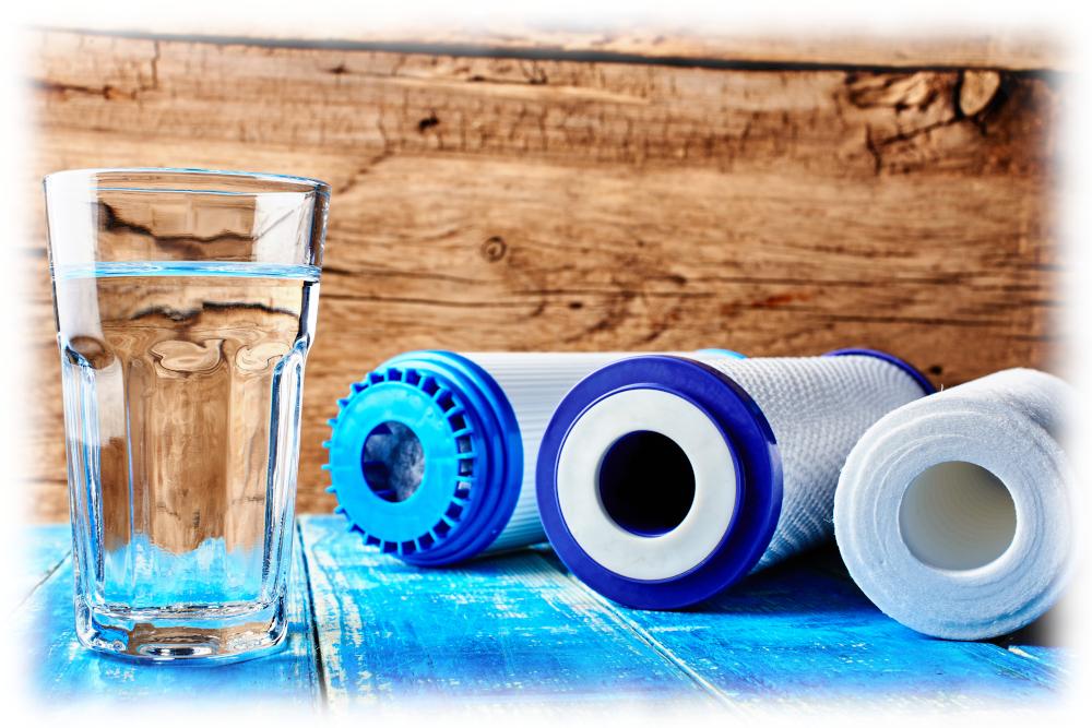 vattenfilter, vattenfiltrering. Water filter, purification